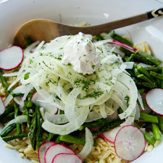 Orzo Salad with Asparagus, Radish & Fennel – Sarasota Food Photographer