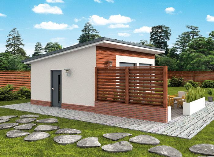 Projekt KL3 Kuchnia letnia  Bud gospodarczy (TIS 912