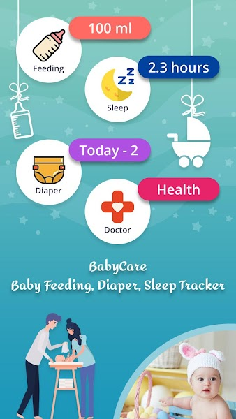 BabyCare:  Baby Feeding, Diaper, Sleep Tracker