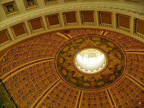 Photo: The dome above the main reading room.