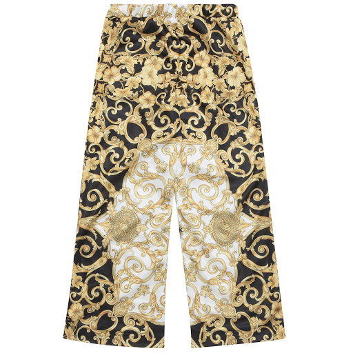 Thumbnail images of Young Versace Baroque Print Trousers