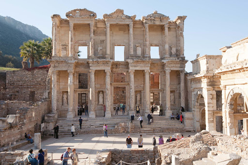 Temple-of-Celsus - The ancient Temple of Celsus in Ephesus, Turkey.