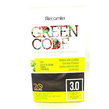 KIT TINTE RECAMIER GREEN   CODE INGREDIENTES NAT.CASTAÑO OSCURO#3.0X1UND