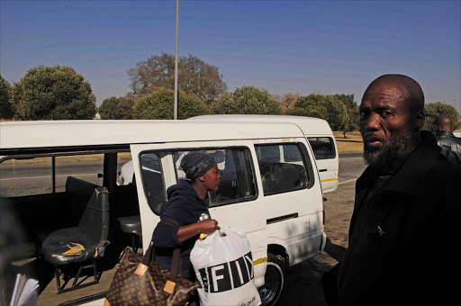 June 30, 2017. Taxi owner Sizwe Mabena says his business has taken a financial knock since Anglo Gold Ashanti closed down one of its shafts. Photo Thulani Mbele © Sowetan