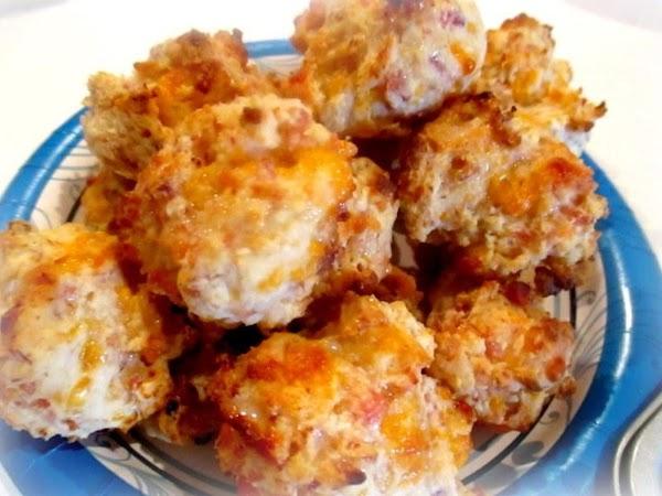 ~ Ham & Cheddar Biscuits ~ Recipe