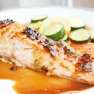 Clean Eating Recipe – Sweet Ginger Glazed Salmon.