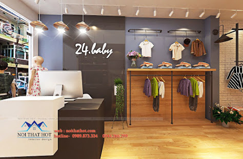 thiết kế shop thời trang trẻ em 24.baby 1