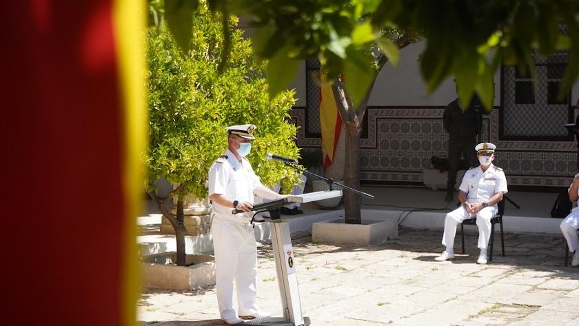 Intervención del comandante naval Víctor Garay en el acto