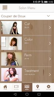大阪市西区北堀江の美容室クぺドゥドゥーの公式アプリ - náhled