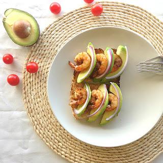 Shrimp And Avocado Toast