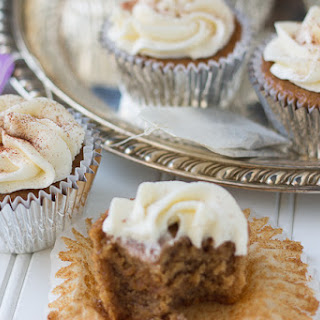 Chai Tea Cupcakes with Buttercream Frosting.