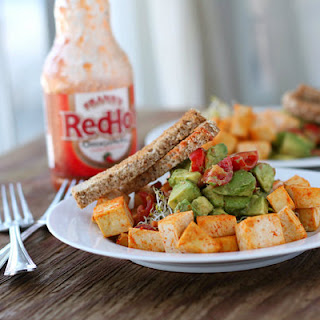 Spicy Buffalo Tofu Salad.