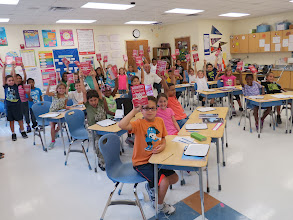 Photo: Third-graders at Deltona Lakes Elementary School received their dictionaries from Eli Schaperow and Don Kanfer from the Rotary Club of DeBary-Deltona-Orange City (Florida) - September 19, 2013 ( Photo courtesy of Eli Schaperow)