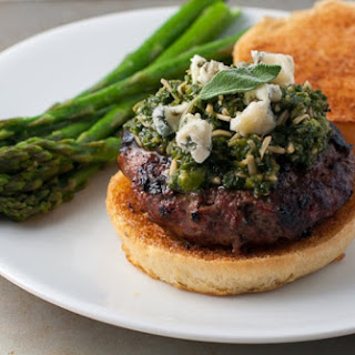 Buffalo Apple Burgers With Sage-jalapeño Pesto