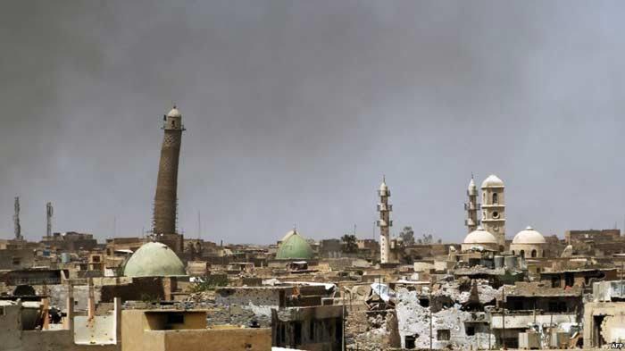 «горбатый» минарет в Мосуле