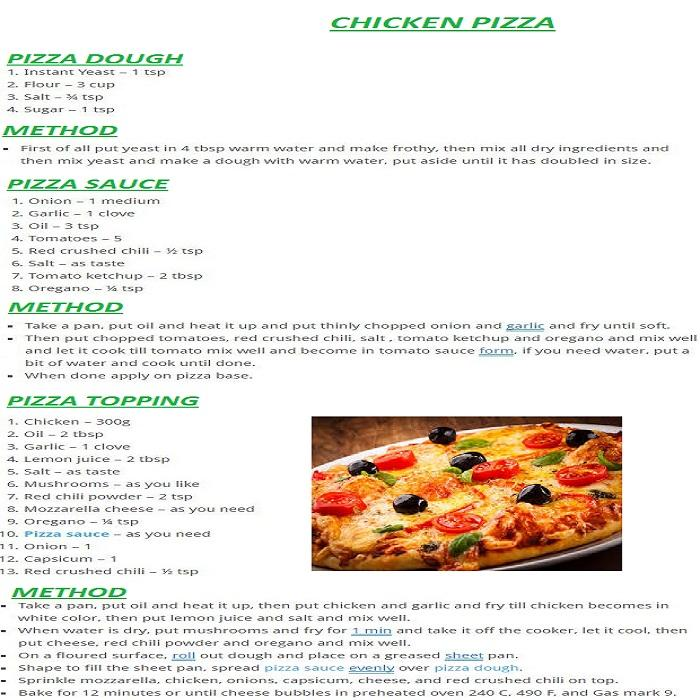 Pizza Recipes In English Screenshot