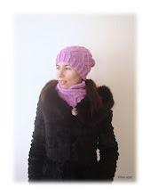 Photo: женская вязаная шапка Аметист