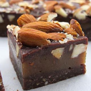Jacqueline Alwill's raw almond caramel slice