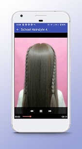 School Hairstyle – Video Step By Step Offline 1.0 APK Mod for Android 1