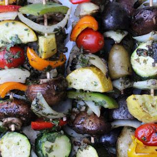 Grilled Vegetable Shish Kebabs