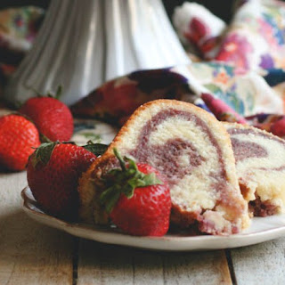 Mixed Berry Mascarpone Bundt Cake