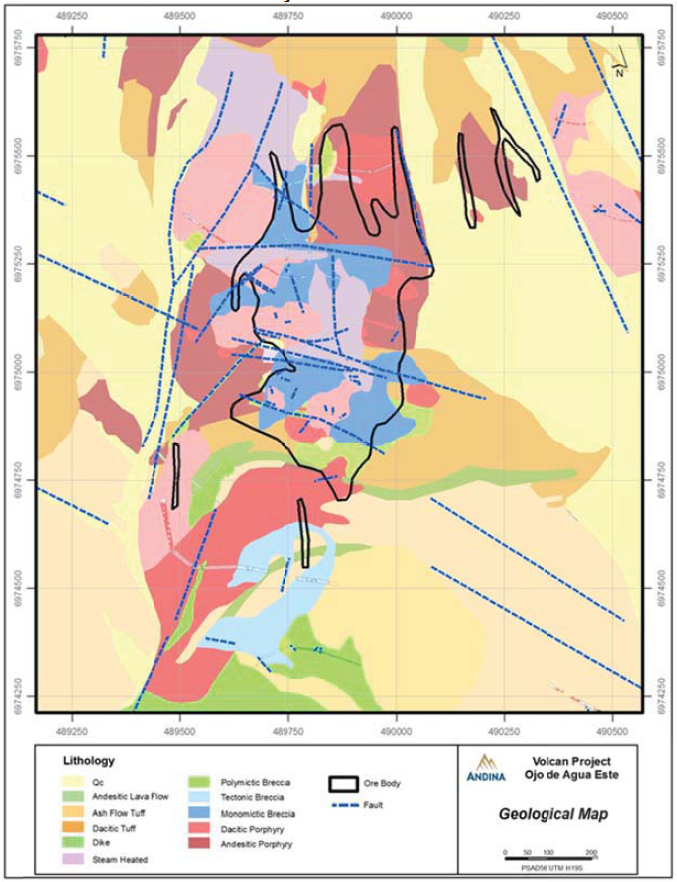 OdAE Geological Map showing Inferred and/or Projected Faults