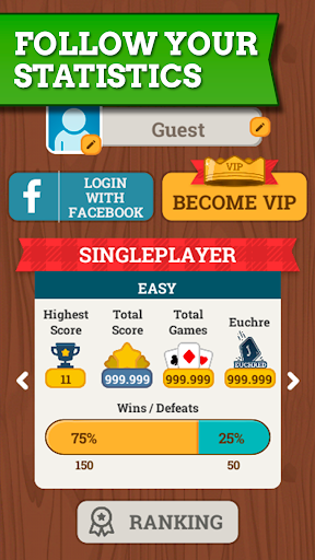 Euchre Free: Classic Card Games For Addict Players apkpoly screenshots 6