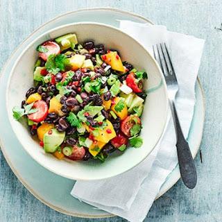 Guacamole & Mango Salad With Black Beans.