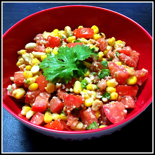 Easy Tomato Corn Summer Salad.
