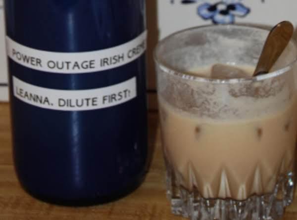 Power Outage Irish Creme Recipe