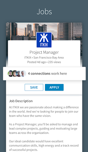 Screenshot 0 for LinkedIn's Android app'