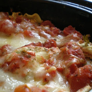 Slow Cooker Vegetarian Lasagna