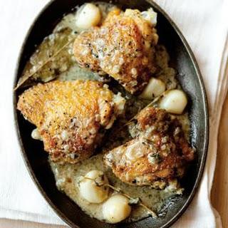 Garlicky Chicken Thighs