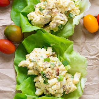Paleo Egg Salad with Bacon and Scallions {Whole30, Low Carb}.