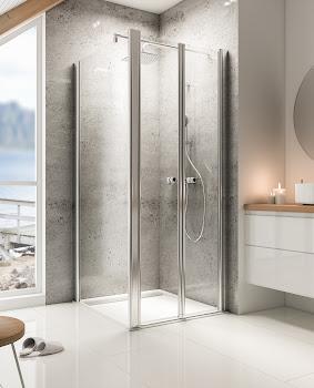 Portes de douche battantes pour paroi latérale, jusqu'à 200 cm