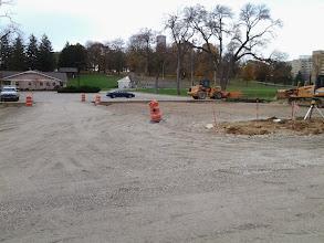 Photo: Gravel base of main parking lot expansion 11-4-2013