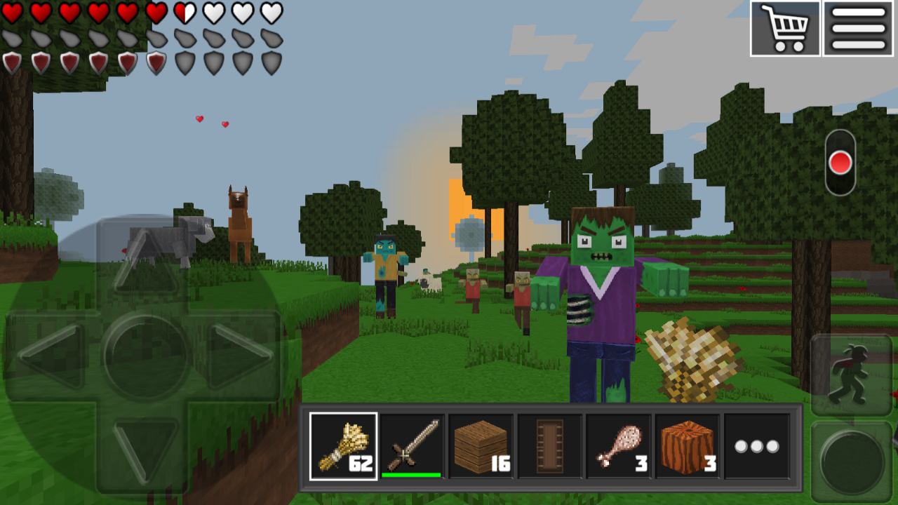 World of Cubes Survival Craft with Skins Export- screenshot