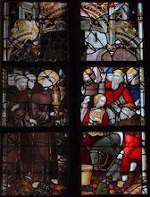 Photo: La vie de saint Antoine de Padoue : génuflexion de la mule devant le Saint Sacrement (chapelle Saint-Ghislain)