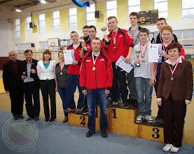 Photo: Podlaska Gimnazjada Strzelecka - w konkurencji pistolet pneumatyczny 30 drużyna chłopców zajęła III miejsce