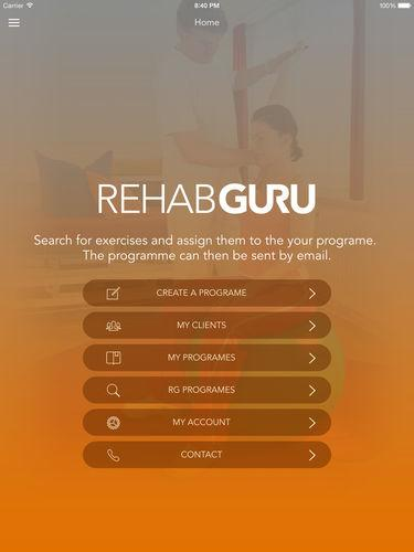 Rehab Guru- screenshot