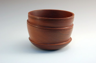 "Photo: Stuart Glickman - Off-center Stacked Bowl - 6 1/2"" x 4"" - Cherry"
