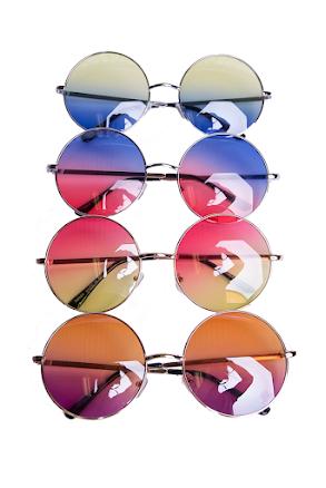 Solglasögon, Tvåfärgade runda