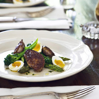 Spiced Quail with Asparagus and Warm Broccolini Salad