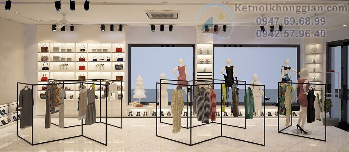 thiết kế nội thất cửa hàng thời trang nữ