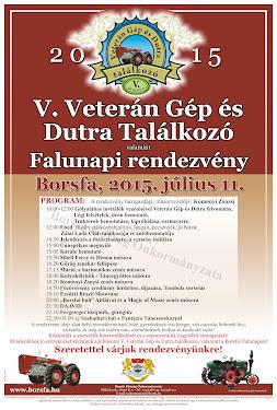 V. Veterán Gép és Dutra Találkozó valamint Falunapi Rendezvény