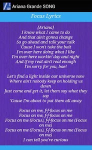 Ariana Grande - Focus Lyrics screenshot 3
