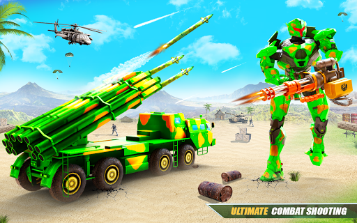 US Army Robot Missile Attack: Truck Robot Games modavailable screenshots 9