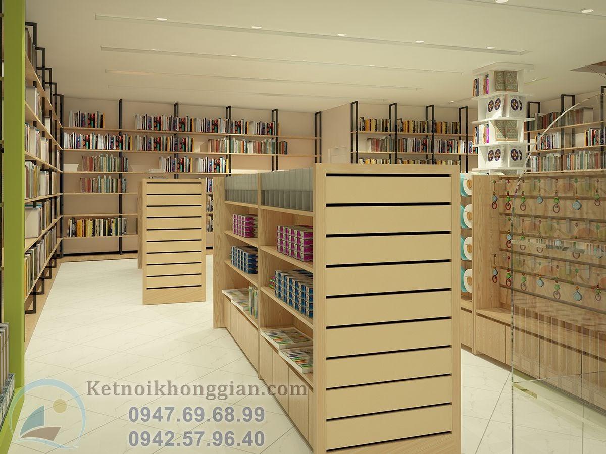 thiết kế nhà sách chất lượng cao