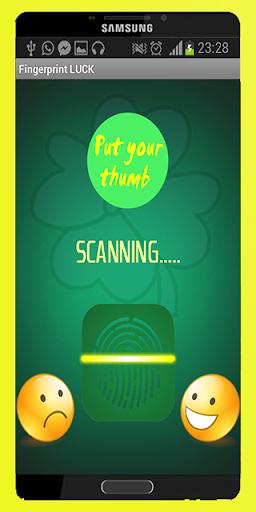 Fingerprint Luck scanner