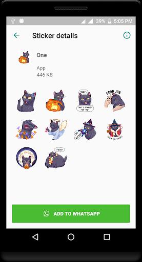 Cat Sticker for Whatsapp - WAStickerApps 1.0 screenshots 1